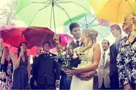 FG colored umbrellas