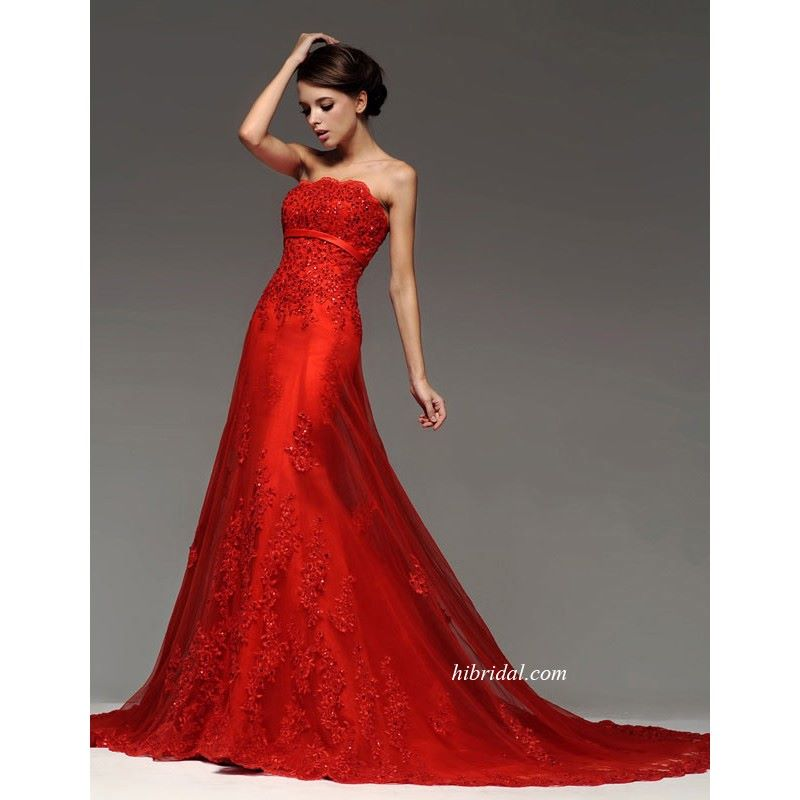 glamorous-princess-red-color-wedding-dresses-in-lace