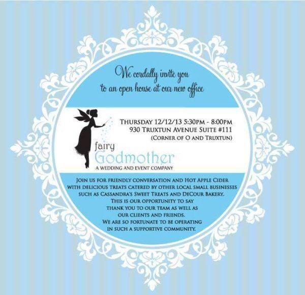 fairy godmother open house invitation
