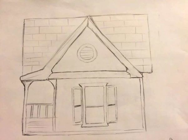 Sketch of Cottage Free Library