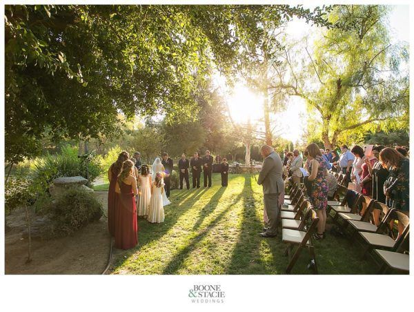 Kern River JEH Ranch wedding ceremony