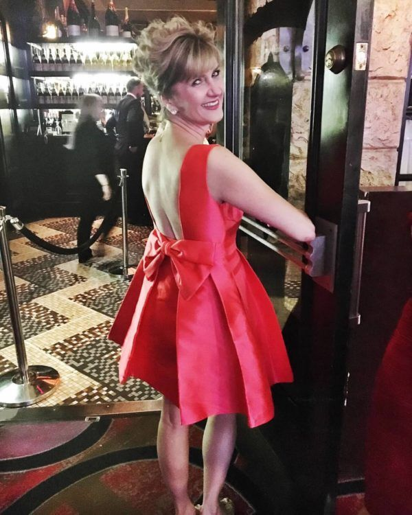 Fairy Godmother Colleen in a Kate Spade Cocktail Dress