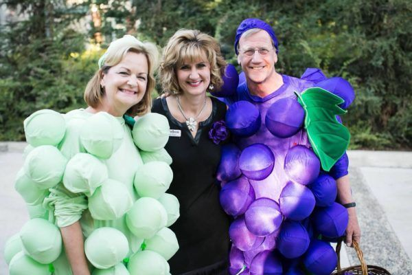 Fairy Godmother Colleen with Jack & Carolyn Pandol at the International Fruit Genetics Dinner