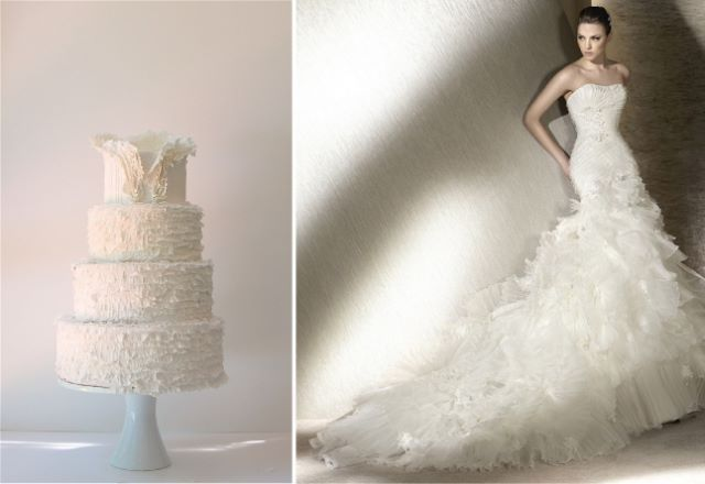 Matching-Wedding-Cake-and-Gown