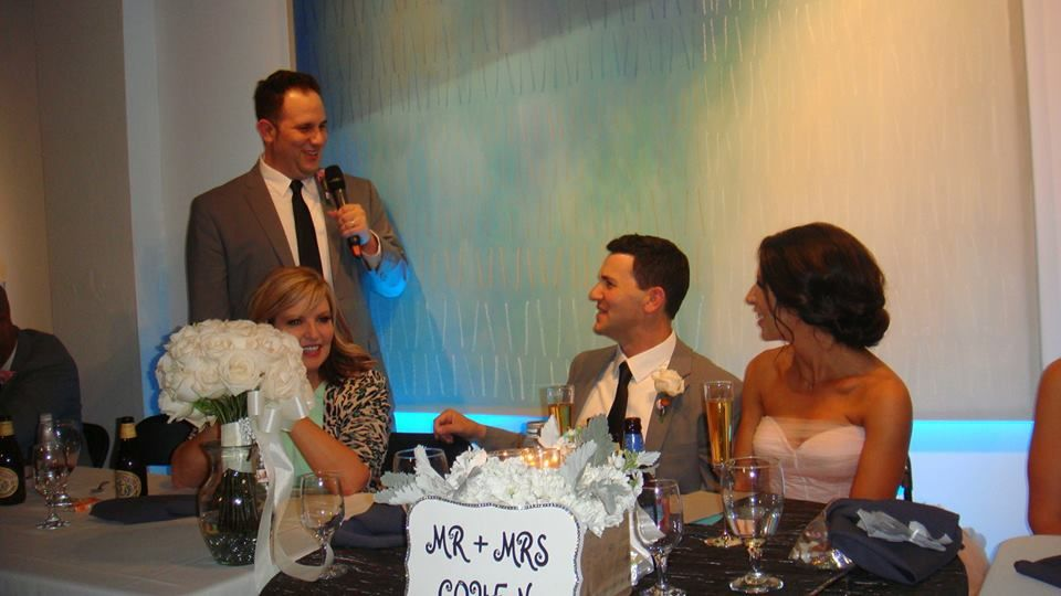 Oh we wish you could have been there to hear the toasts, they were all amazing....great news is Josh was there from Evermoore Films...Can't wait to see their video.