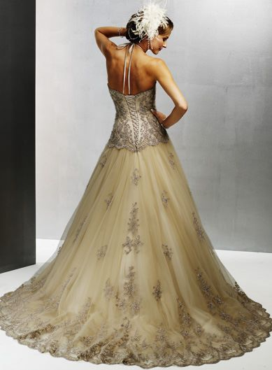 Champagne-Colored-Wedding-Dress
