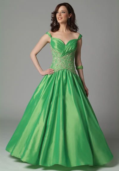 green-colored-wedding-dresses