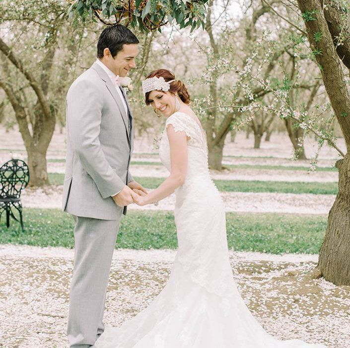 Bakersfield Almond Orchard Love Story Concept Shoot