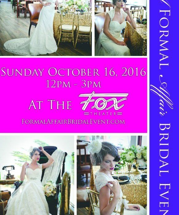 Wedding Wednesday – A Formal Affair Bridal Event