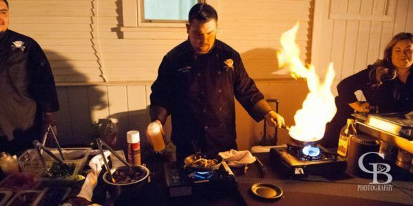 Chef Nate Cooking at the 20th Street Cottage Ribbon Cutting