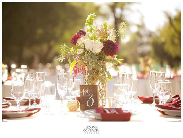 Centerpiece and tablescape by JEH Ranch
