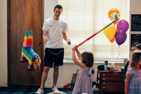 Fairy Godfather TJ piñata at Memphis' birthday