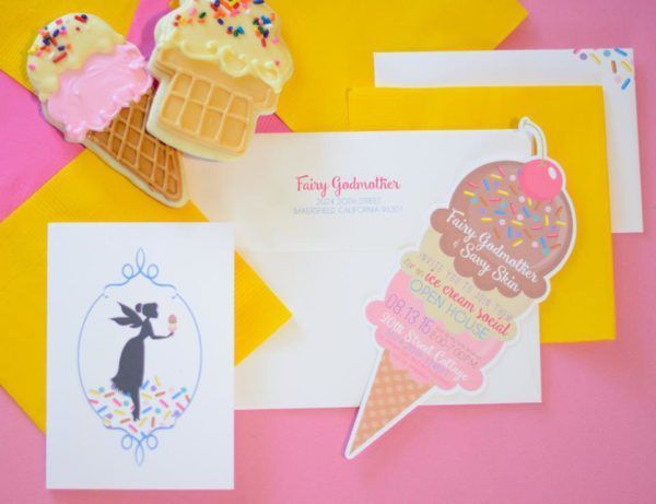 Fairy Godmother Ice Cream Social Invitation