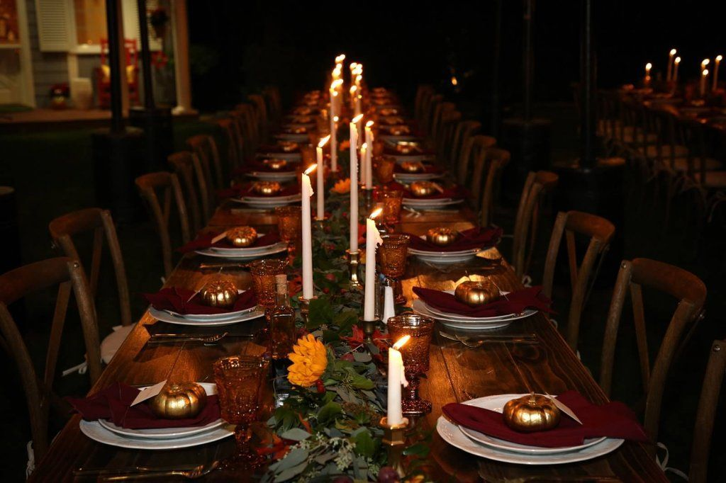 Fairy Godmother Pandol Fall Harvest Tablescape