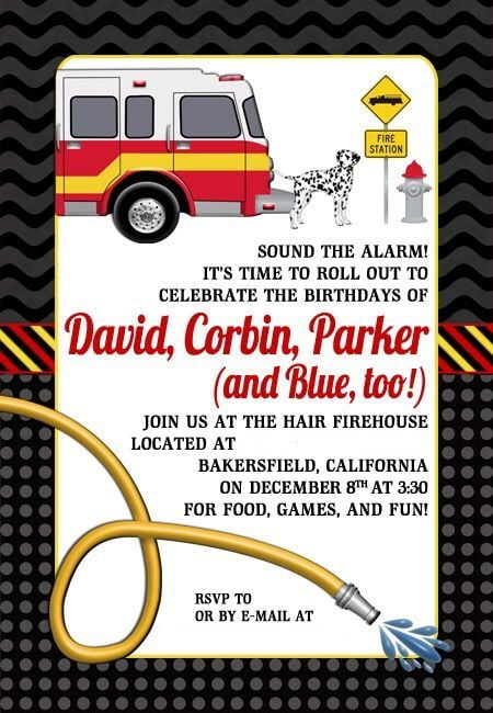 Hair Fire Birthday Invitation