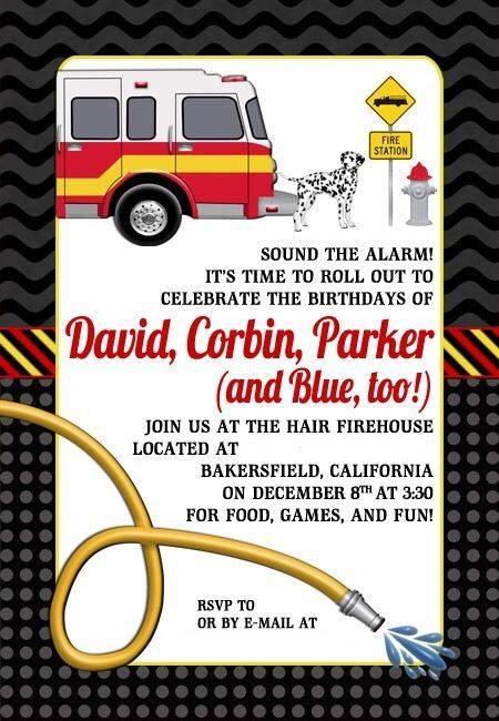Hair Fire Birthday Invitation
