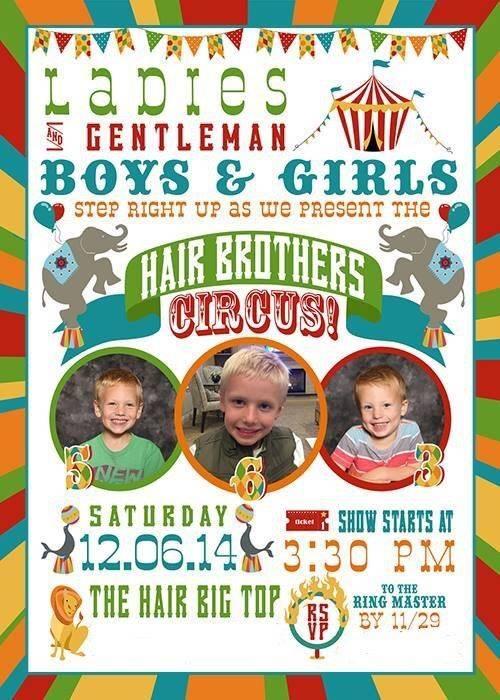 Hair Circus Invite