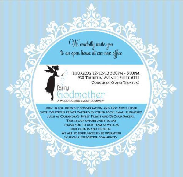 fairy godmother open house invitation
