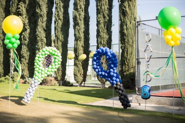 Tennis Balloons by Paradise Balloon Designs