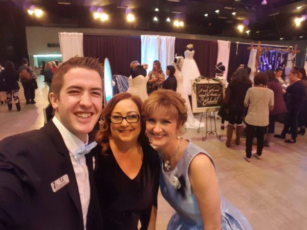 Fairy Godmother Colleen and Fairy Godfather TJ with Angela of Enchanted Bridal!