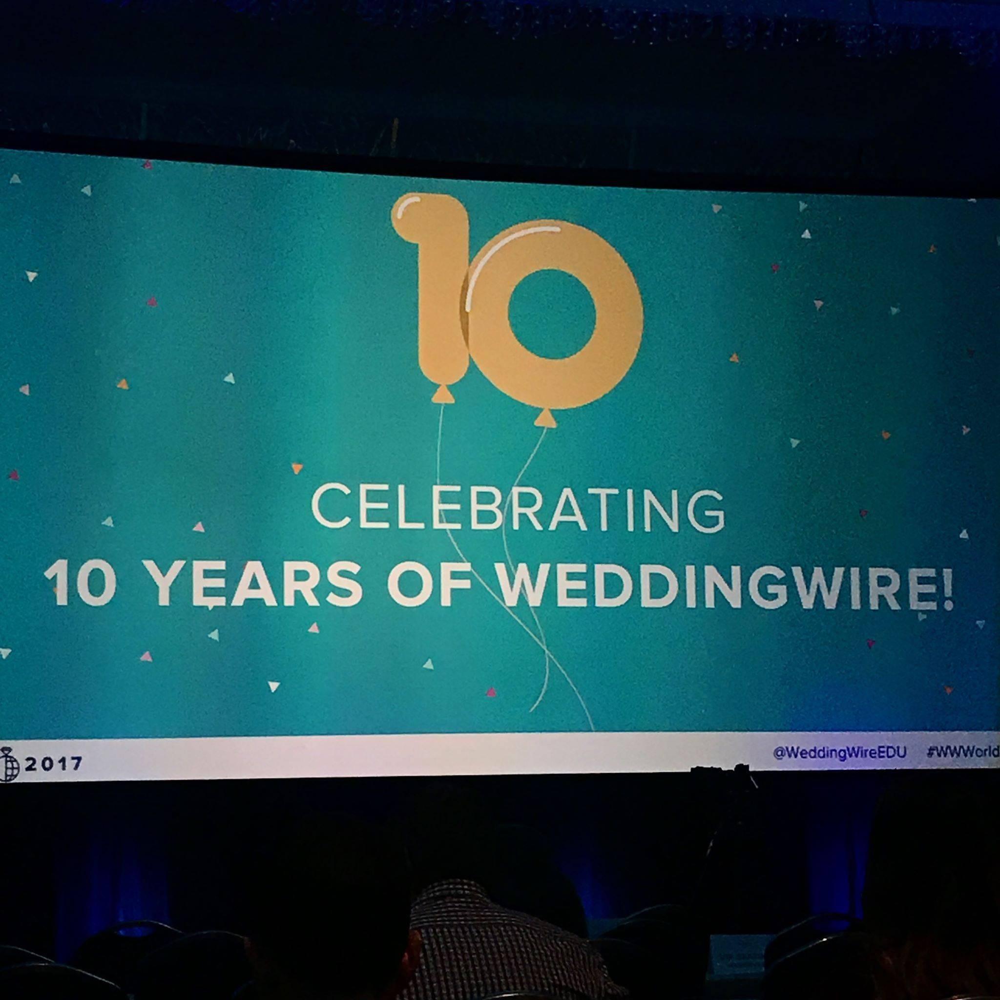 Wedding Wire World 2017 Anniversary