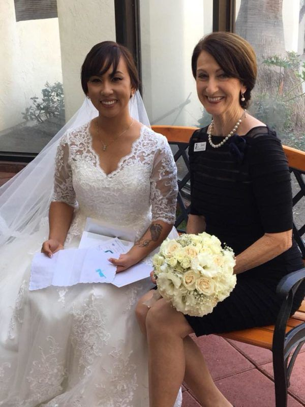 Fairy Godmother Janet with Fairy Godmother bride Elaine